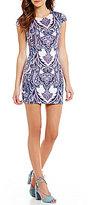 B. Darlin Paisley Print Sheath Dress