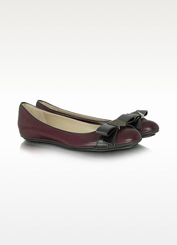 Marc Jacobs Sandy - Merlot Leather Ballerina Flat