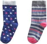 Benetton Girls Star Print Socks 2 Pack