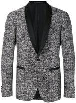 Pal Zileri tweed tuxedo jacket