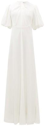 Emilia Wickstead Magnolia Puff-sleeve Cloque Maxi Dress - Ivory