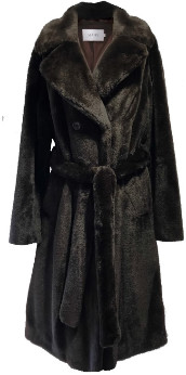 Stand Dark Brown and Pink Faustine Coat - 34