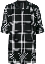 Odeur oversized check T-shirt