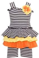 Bonnie Baby Baby-Girls Striped Smocked Sun Dress Set 12M (M12105)