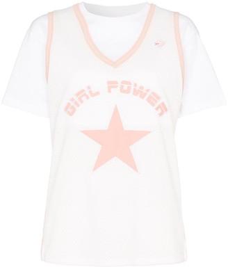 Converse X Feng Chen Wang mesh overlay T-shirt