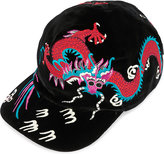 Gucci Dragon-embroidered Velvet Cap