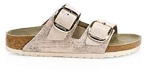 Birkenstock Women's Arizona Big Buckle Metallic Leather Sandals