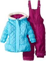 Pink Platinum Baby Girls Solid Color Block 2-Piece Snowsuit Ski Bib Pant Set