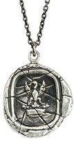 Pyrrha Men's 925 Sterling Silver Eagle in Crown Talisman Necklace
