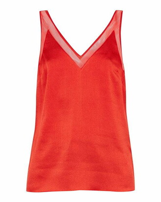 Ted Baker Lilyane Mesh Trim V Neck Cami Top