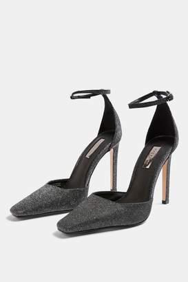 Topshop Womens Gloria Pewter Elongated Heels - Pewter