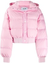 2l Cropped Puffer Jacket Womens Pink