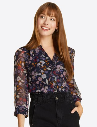 Draper James Gathered Top in Painterly Floral