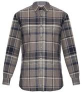 Brioni Checked cotton shirt