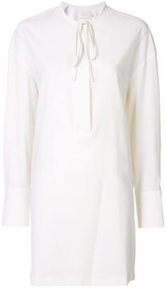 Low Classic Collarless Shirt Dress