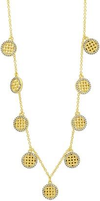 Freida Rothman Lattice Motif Charm Choker Necklace