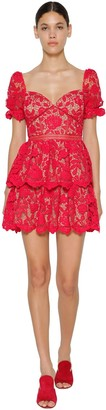 Self-Portrait Self Portrait Flower Lace Mini Dress