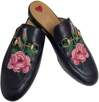 Gucci Princetown Black Leather Flats