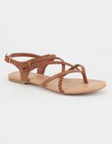 Soda Sunglasses Criss Cross Braided Womens Sandals