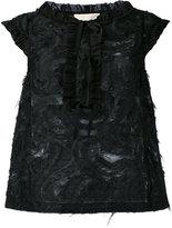 L'Autre Chose frayed sleeveless top - women - Cotton/Polyamide/Polyester - 42