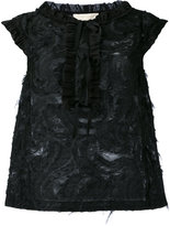 L'Autre Chose frayed sleeveless top - women - Cotton/Polyamide/Polyester - 44