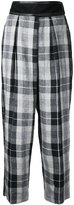 CITYSHOP plaid cropped trousers