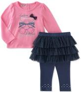 Juicy Couture Looking Fabulous Glasses Tee & Denim Skegging Set (Baby Girls)