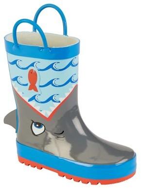 Wonder Nation Toddler & Little Boy Shark Attack Rain Boots