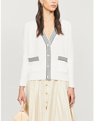 Sandro Pauly striped wool and cashmere-blend cardigan