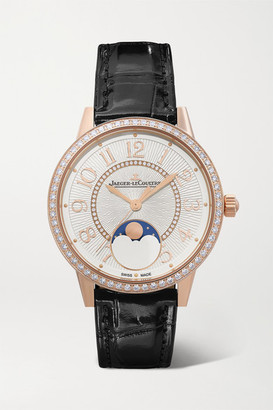 Jaeger-LeCoultre Jaeger Lecoultre Rendez-vous Moon Automatic 34mm Medium Rose Gold, Alligator And Diamond Watch