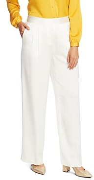 Vince Camuto Pleated Satin Wide-Leg Pants