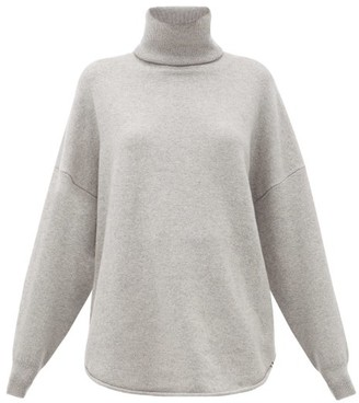 Extreme Cashmere No. 52 Roll Stretch-cashmere Sweater - Grey