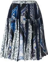Wunderkind scarf print skirt