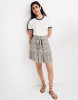 Madewell Tie-Waist Tiered Mini Skirt in Fieldwalk Floral