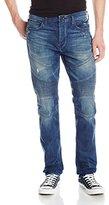 True Religion Men's Rocco Slim Fit Moto Jean