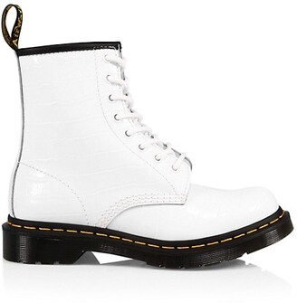 Dr. Martens 1460 Croc-Embossed Patent Leather Boots