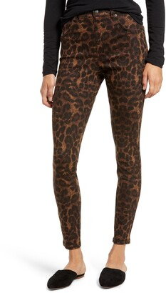 Hue Leopard Print Denim Leggings