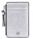 Tory Burch Crinkle Metallic Zip Card Case