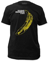 Impact Men's Velvet Underground Distressed Banana Short Sleeve Jersey T-Shirt