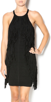 Endless Rose Black Fringe Dress