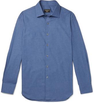 Emma Willis Slim-Fit Melange Cotton-Twill Shirt