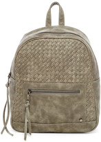 Urban Expressions Charlie Woven Faux Leather Backpack