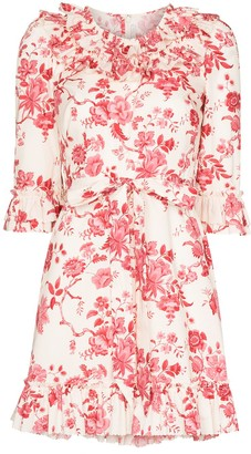 The Vampire's Wife Gloria floral-print mini dress