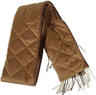 Burberry Quilted Giant Check Cashmere Scarf