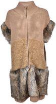 Stella McCartney Fur Free Fur Trimmed Coat