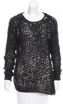 Helmut Lang Asymmetrical Open-Knit Sweater