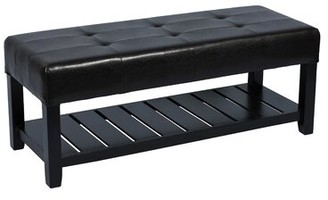 Attraction Design Home Upholstered Storage Bench