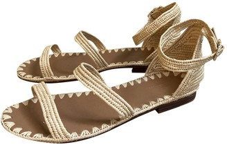 Carrie Forbes Beige Cloth Sandals