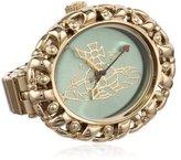 Vivienne Westwood Women's VV052GRGD Plimlico Gold Tone Stainless Steel Swiss Quartz Ring Watch