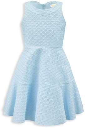 David Charles Little Girl's Sleeveless Brocade Flare Dress